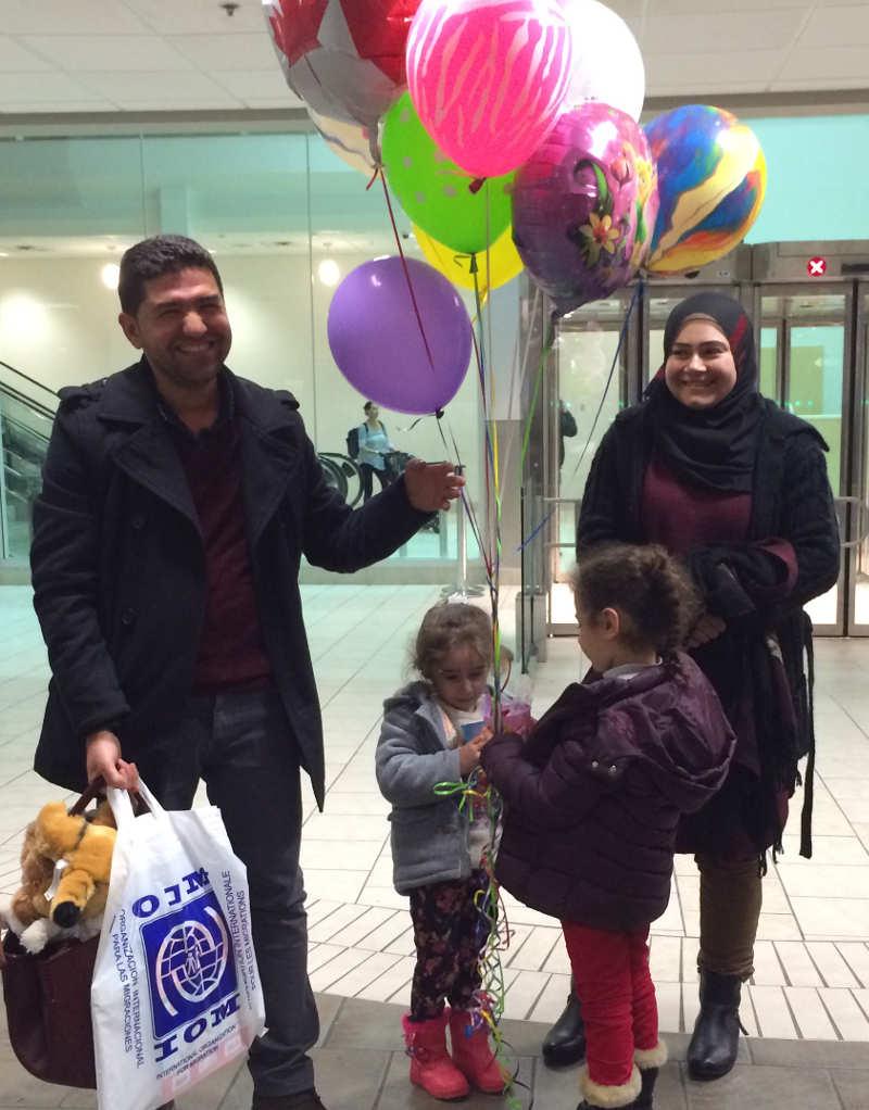 The Ali family - Shahin, Yasmin, Shana and Yara