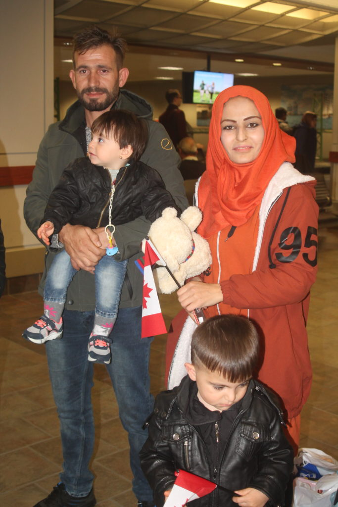 Photo of family at airport