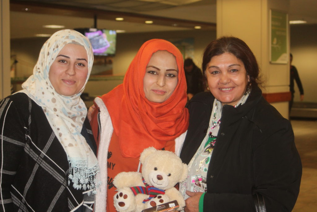 Beyan with friends at airport