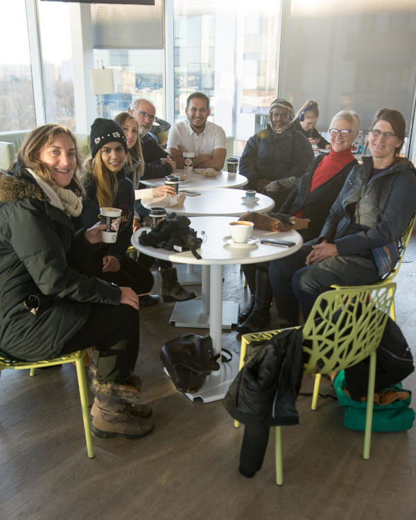 A gathering of OHRA members at the Halifax Central Library